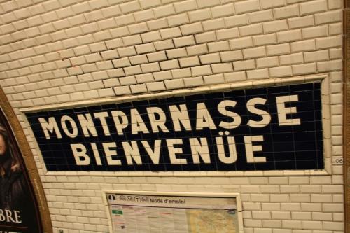 Metro Montparnasse.